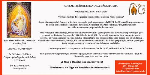 CONSAGRAÇÃO DE CRIANÇAS À MÃE E RAINHA